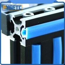5 metre 6mm Düz Mühür 2020 Alüminyum Profil Yuvası Kapak/Paneli Tutucu Siyah/Beyaz/Mavi Rastgele CNC için CR-10 Makinesi DIY Böl...