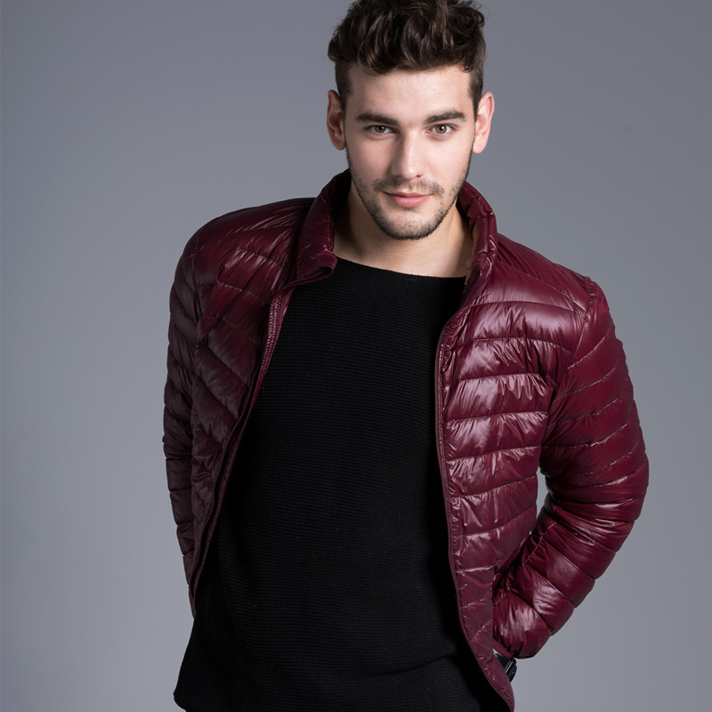 2017 Fall Winter man Duck Down Wear Jacket Ultra Light Thin Winter Jackets Men Fashion Spring Outerwear Coat