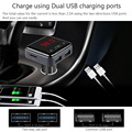 BC12B Hands-free Wireless Bluetooth Car Kit FM Transmitter Radio Support MP3 Player Phone APP Control Dual USB Car Charger