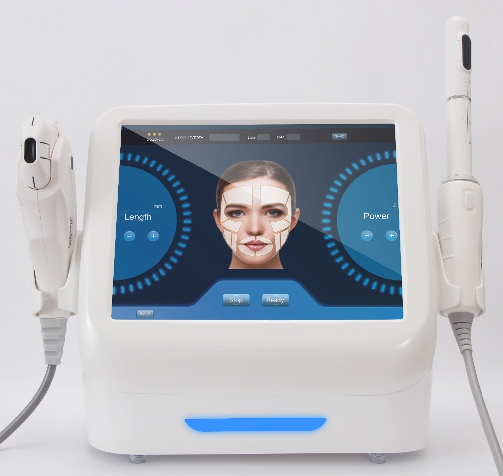 2018 Mais Recente tecnologia 2 em 1 hifu máquina de aperto vaginal + endurecimento da pele máquina de levantamento de cara
