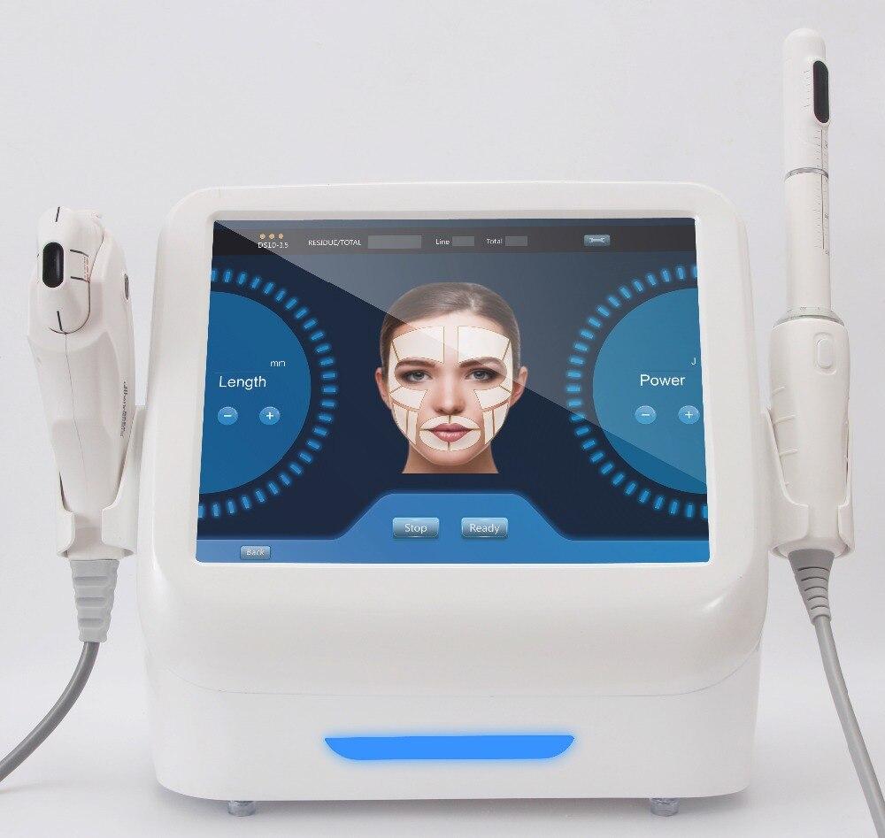 2018 plus récent tech 2 en 1 hifu machine de serrage vaginale + peau serrant la machine de levage de visage
