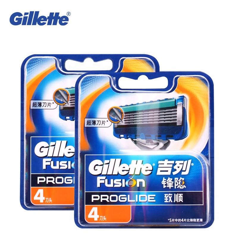 купить Original Gillette Fusion ProGlide Manual Razor Blade Men'S Shaving Brand Shave Facial Beard Shaver Razors Blades 8pcs For Men недорого