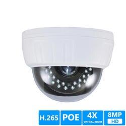 H.265 8MP 5MP SONY335 POE, купольная ip-камера 4X зум 2,8-12 мм объектив Обнаружение движения ночное видение ONVIF P2P ip-камера безопасности