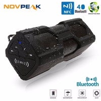Novpeak Portable Speaker Waterproof Wireless Bluetooth Speaker Soundbar Built In Battery Power Bank Support NFC