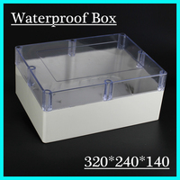 1 Piece Lot 320 240 140mm Clear ABS Plastic IP65 Waterproof Enclosure PVC Junction Box