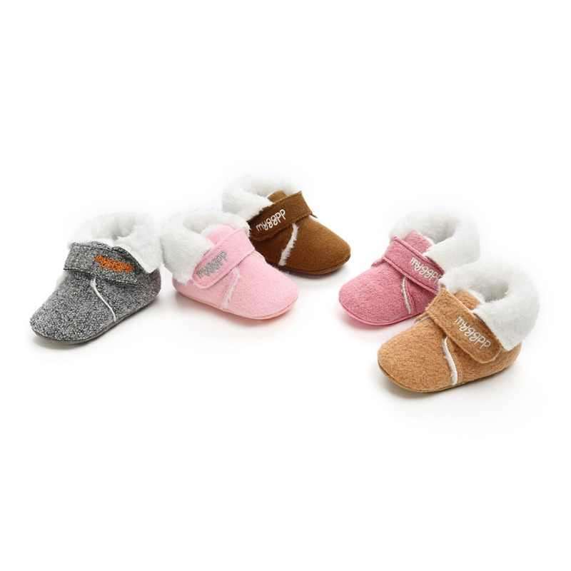 c1c880fc4dc Detail Feedback Questions about Fashion Newborn Plus Velvet Warm Boots Baby  Casual Soft Toddler Shoes 2018 New Winter Baby Shoes Infant First Walkers 0  18M ...