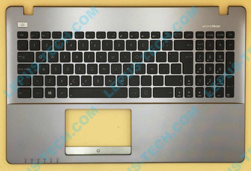 UK US LA English Keyboard For ASUS X550 A550 Y581C K550V R510V F550V Top Cover Upper Case Palmrest Silver/Gray AMD цена и фото
