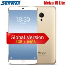 Orijinal Meizu 15 Lite M15 4G LTE 4 GB 64 GB Snapdragon 626 Octa Çekirdek 5.46
