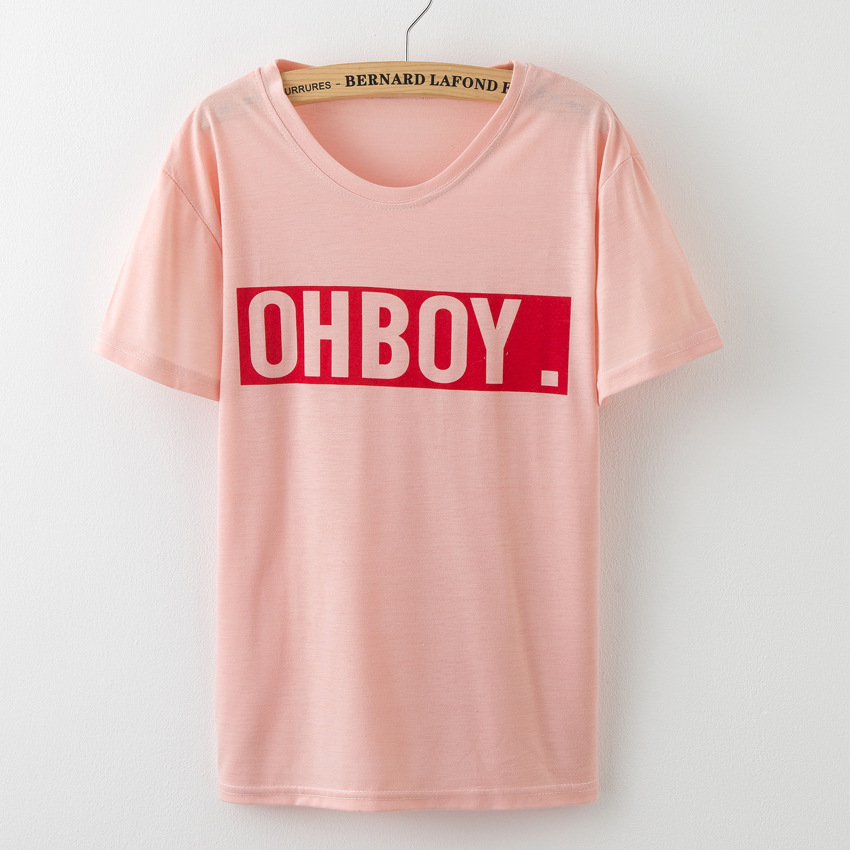 Hoffen OHBOY Drucken Sommer Tops 2017 New Fashion Damen T-Shirts O - Damenbekleidung - Foto 6