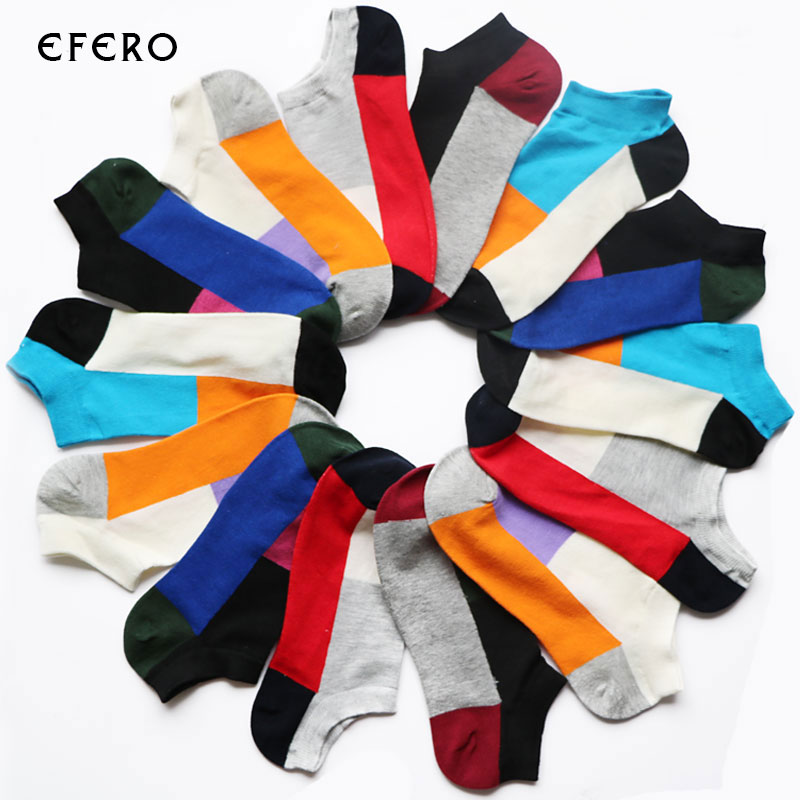 3Pair Colorful Novelty Socks Short Ankle Male Short Socks Calcetines Hombre Meias Homens Casual Summer Mens Socks Men