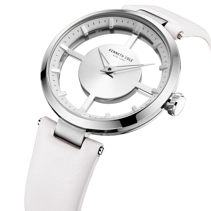 KENNETH COLE VROUWENHORLOGE KC2609 FASHION SIMPLE ELEGANT WHITE - Dameshorloges - Foto 4