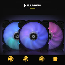 Barrow PWM Fan Size 120*120mm use for Radiator Computer Case with Aurora 5V RGB Light 6PIN Header/Support Motherboard