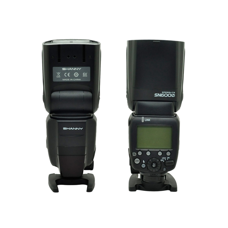 SHANNY SN600N on-camera speedlite flashgun flash for Nikon i-TTL/M/RPT High-speed sync 1/8000s GN60 shanny sn600c hss 1 8000s e ttl gn60 flashgun flash speedlite for canon