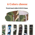 6 Camouflage Colors available  16/18/20/22mm Band Width High quality Nylon Watchbands waterproof watch strap watch band