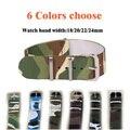 6 Camuflaje Colores disponibles 16/18/20/22mm Ancho de Banda de Alta calidad de Nylon correas de Reloj reloj resistente al agua correa correa de reloj