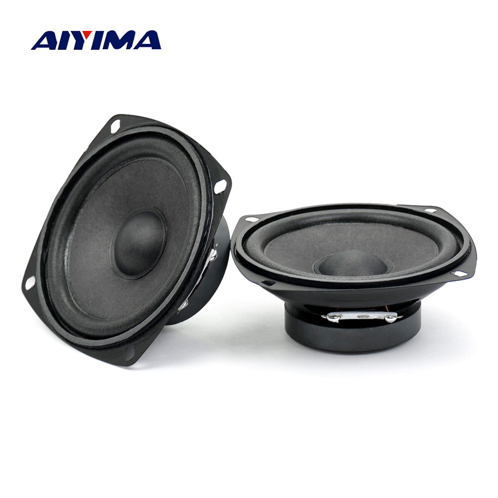Aiyima 2PC 3inch Audio Speaker 4ohm 10W Full frequency Speaker For Audio Satellite Box DIY