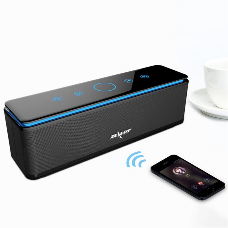 ZEALOT S7 Touch Waterproof Mini Wireless Bluetooth Speaker Subwoofer Portable Sports & Outdoors Phone Speaker xoopar xg21013 wireless bluetooth speaker personalized mini portable small smart phone audio subwoofer