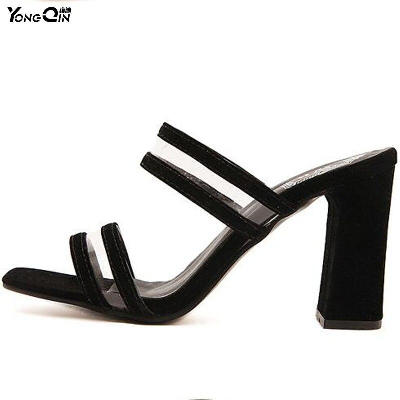 где купить Wild Transparent  Women Slippers  2017 Peep Toe Sexy  Women Shoes Comfortable High Heels Fashion Ladies Sandals Shoes size 35-40 по лучшей цене
