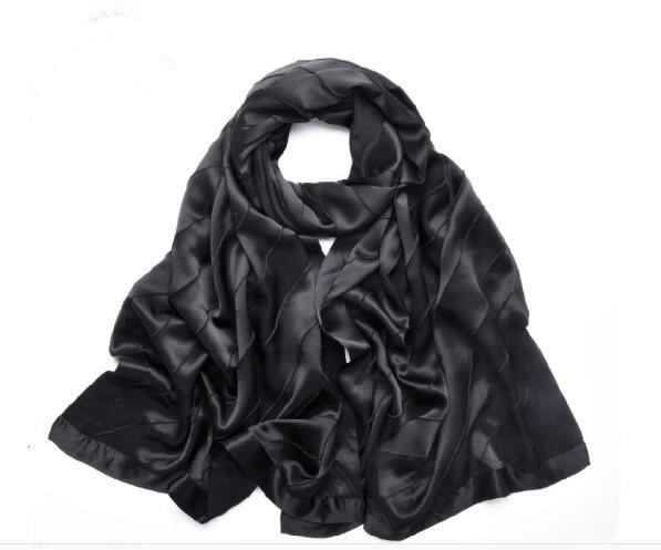 Solid fashion silk scarf large size for women 68 200