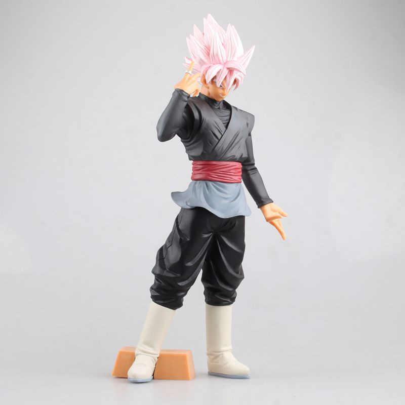 Dragão bola z tamanho grande rosa filho goku vegeta fusão figura de ação dbz preto gogeta son goku rosa cabelo pvc coleção