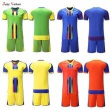 Jazz Vaiten 2018 Adulto de Futebol uniforme Kit de camisas de Futebol  Treinamento personalizado Goleiro terno dos homens Com cal. cefa5c92f36a8