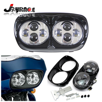 Custom Daymaker LED Dual Twin Headlight Motorcycle Assembly for Harley Davidson Road Glide 2004-2013 harley davidson headlight price