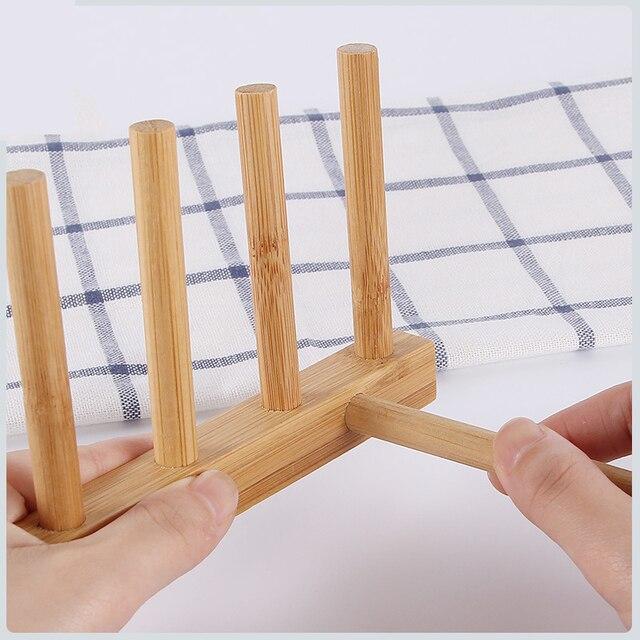 3/6 Layer Bamboo Dish Rack Kitchen Organizer Drying Rack Drainer Storage Holder Kitchen Accessories Organizer Dish Drainer Shelf 6