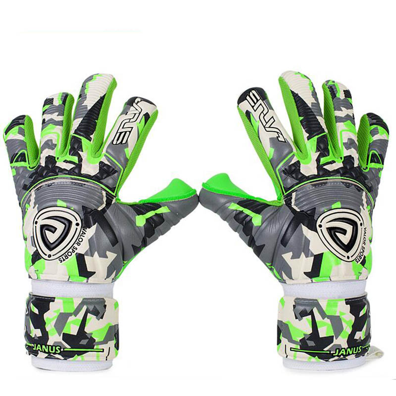 Football Soccer Goalkeeper Gloves Thicken 4mm Germany Latex Goalie Gloves Strong Inseam 5 Finger Save Guard Removable Protection