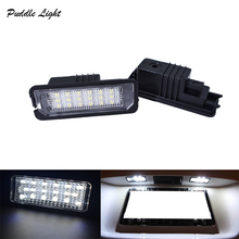 2Pcs Car License Plate Lights Exterior Accessories 12V LED Number Light Lamps for VW GOLF 4 5 6 7 Polo 6R