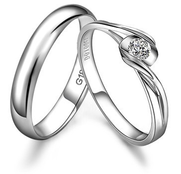 Gvbori Hochzeit Paar Ringe Mann Frau Diamant Verlobungsring Echt 18