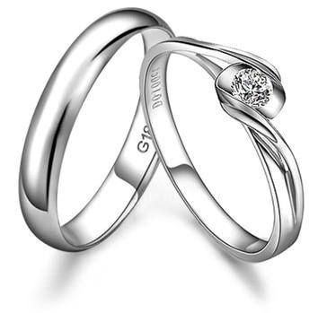 GVBORI Wedding Couple Rings ManWoman Diamond Engagement Ring Real