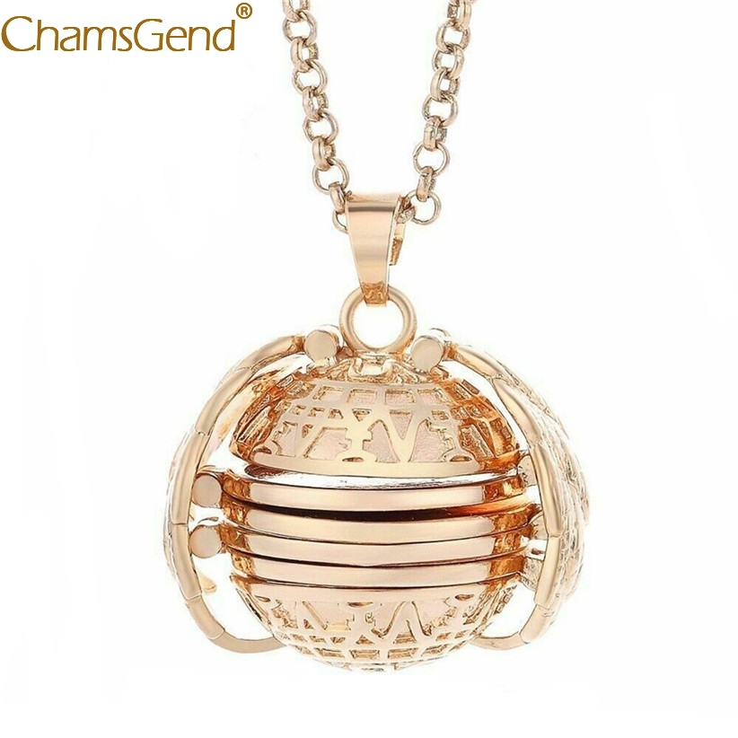 1pc Cheap Necklaces Expanding 4 Photos Locket Necklace Pendant Angel Wings Round Gift Jewelry Decoration 90508 locket