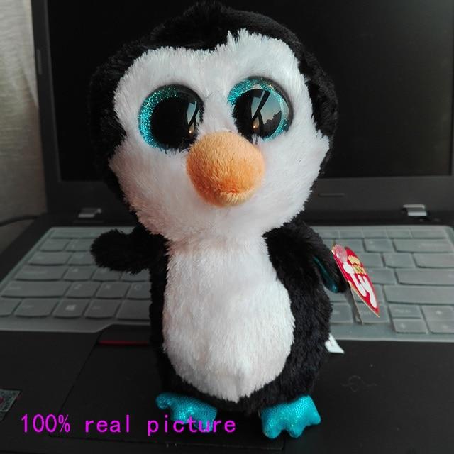 e41fc47e799 In Stock Original Ty Beanie Boos Big Eyed Stuffed Animal WADDLES - penguin  Plush Doll Kids Toy 6   Birthday Gift