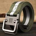 High quality Double loop buckle canvas belt unisex with a common nylon cloth belt high quality material Casual fashion belt