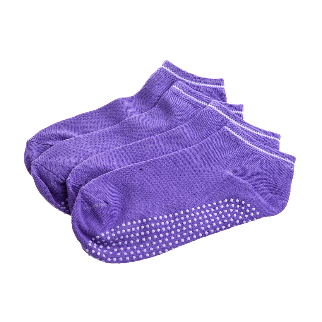 NEW 2 pairs Socks with non-slip massage Granules for women - Purple