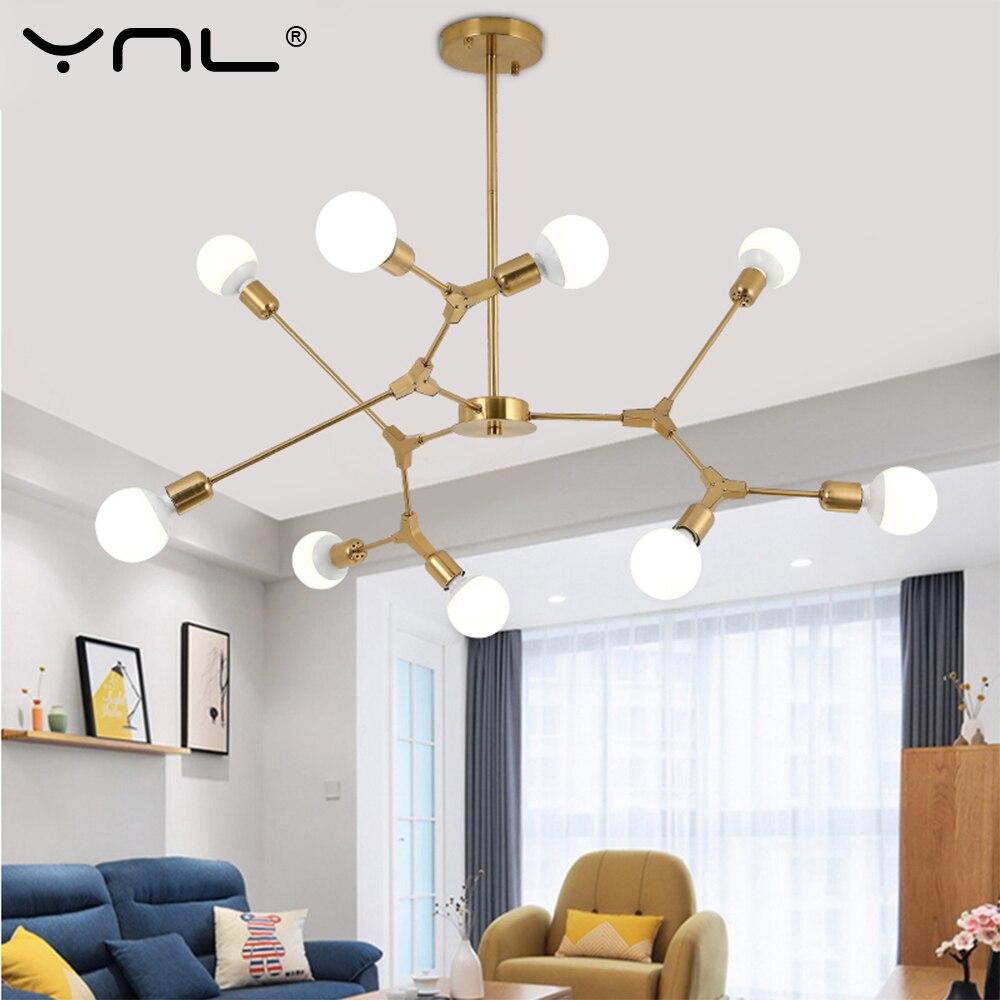 Modern Pendant Lights Nordic Art Gold Black Pendant Lamps 3 6 9 Light Dining room Hanglamp