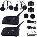 1200 M Motorcycle Helmet Intercom Bluetooth Receptor de Música 6 Pilotos BT intercomunicador Interfone Sem Fio Fones de Ouvido MP3 plug UE