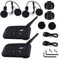 1200M Motorcycle Helmet Intercom Bluetooth Music Reciever 6 Riders BT Wireless Interphone intercomunicador Headsets MP3 EU plug