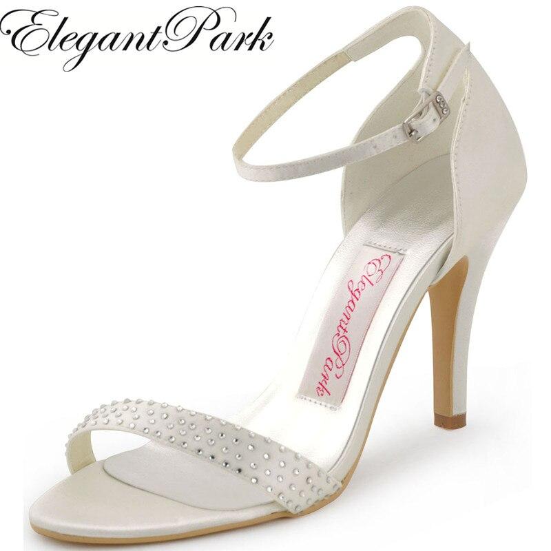 223cf7686cd289 Pink whtie Mariage Avec Femmes hot Pompes Femme red ivory Bal Satin Strass Chaussures  Mariée Haut Boucle Blue De ...