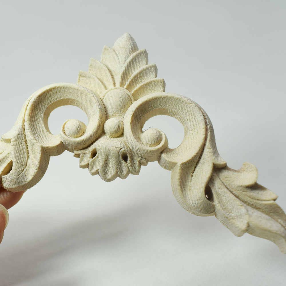 sin pintar Aplique de madera tallada para esquinas para el hogar para decoraci/ón de muebles Huwaioury