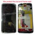 100% Оригинал Новый ЖК-Дисплей + сенсорный экран digitizer с рамкой для Huawei Ascend D1 U9500 Полностью Ассамблея Бесплатная Доставка