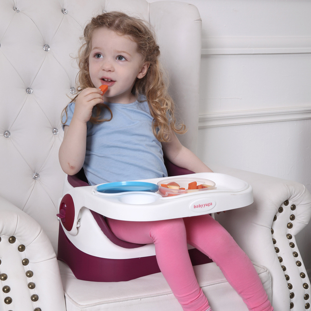 Sales First Purple -Red Color Baby Dinning Chair Multifunctional Portable Comfortable Meal Chair For Young Baby Use