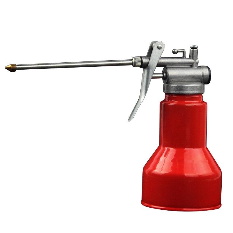 Manual Tools High Pressure Machine Oil Cans Aluminum Cover Transparent Oil Pot Lubricant Gun