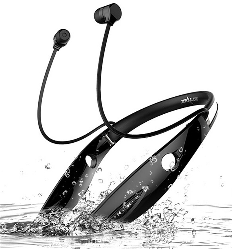 Zealot H1 Wireless Sports Earphones Stereo Headsets Bluetooth V4.1 Headphones Support MP3 player,Microphone,Answering Phone good quality original zealot b19 led screen stereo headset bluetooth headphones headband headsets with fm tf for mp3 player