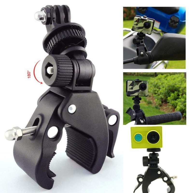 High Quality Bicycle Handlebar Camera DV DSLR Bike Clamp Bracket Tripod Mount Screw Clip For Camera DV Bicycle Bracket