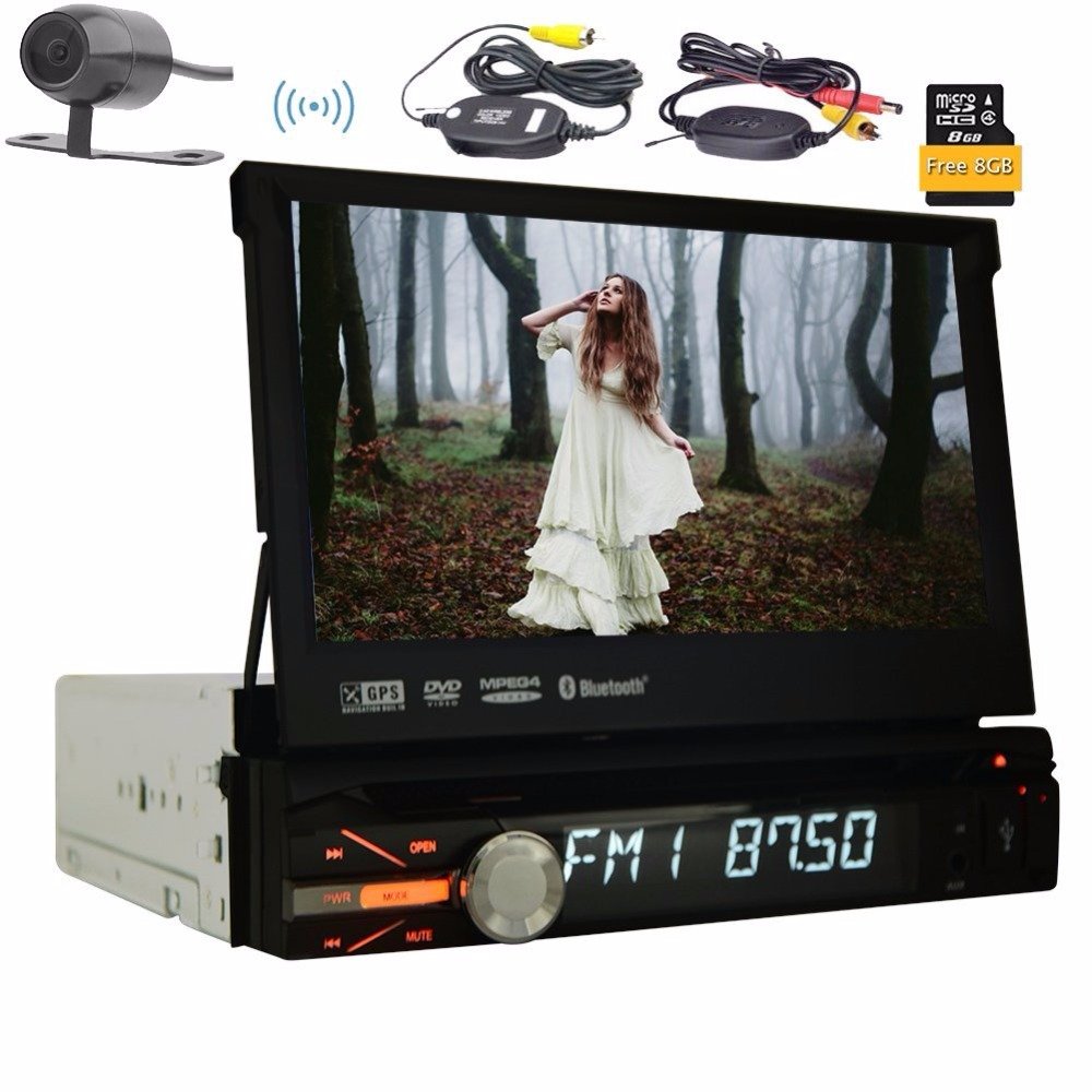 1din 8GB GPS Audio Stereo Single 1din Car Radio Digital Touchscreen CPU Headunit FM AM RDS Receiver Subwoofer Aux Car DVD Player old version degen de1103 1 0 ssb pll fm stereo sw mw lw dual conversion digital world band radio receiver de 1103 free shipping