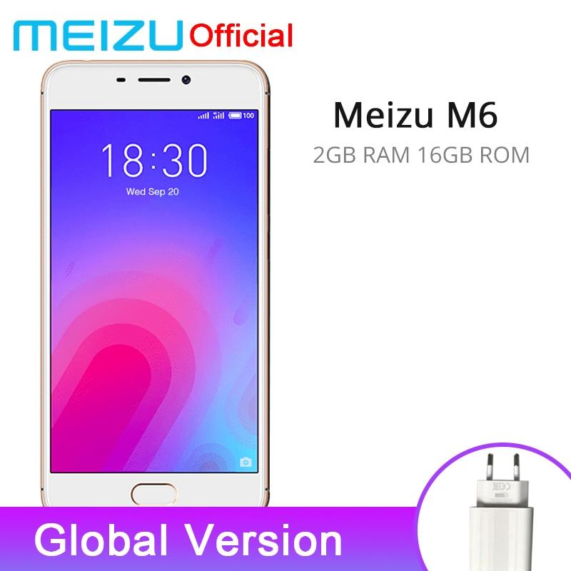 Official Global Version Meizu M6 2gb Ram 16gb Rom Mobile Phone Mtk 6750 Octa Core 5.2'' 13.0mp Rear Camera 3070mah