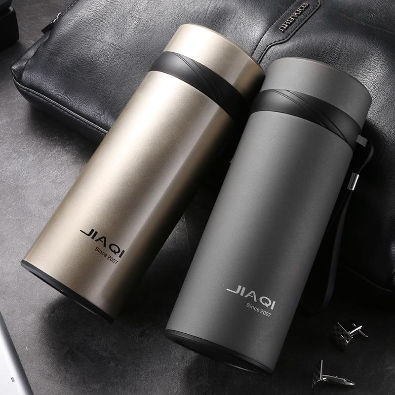 Sport Vacuum Flasks Thermoses 600ml Vaccum Cup Thermal Bottle My Water Bottle Thermos Mug 304 Stainless Steel With Tea Infuser