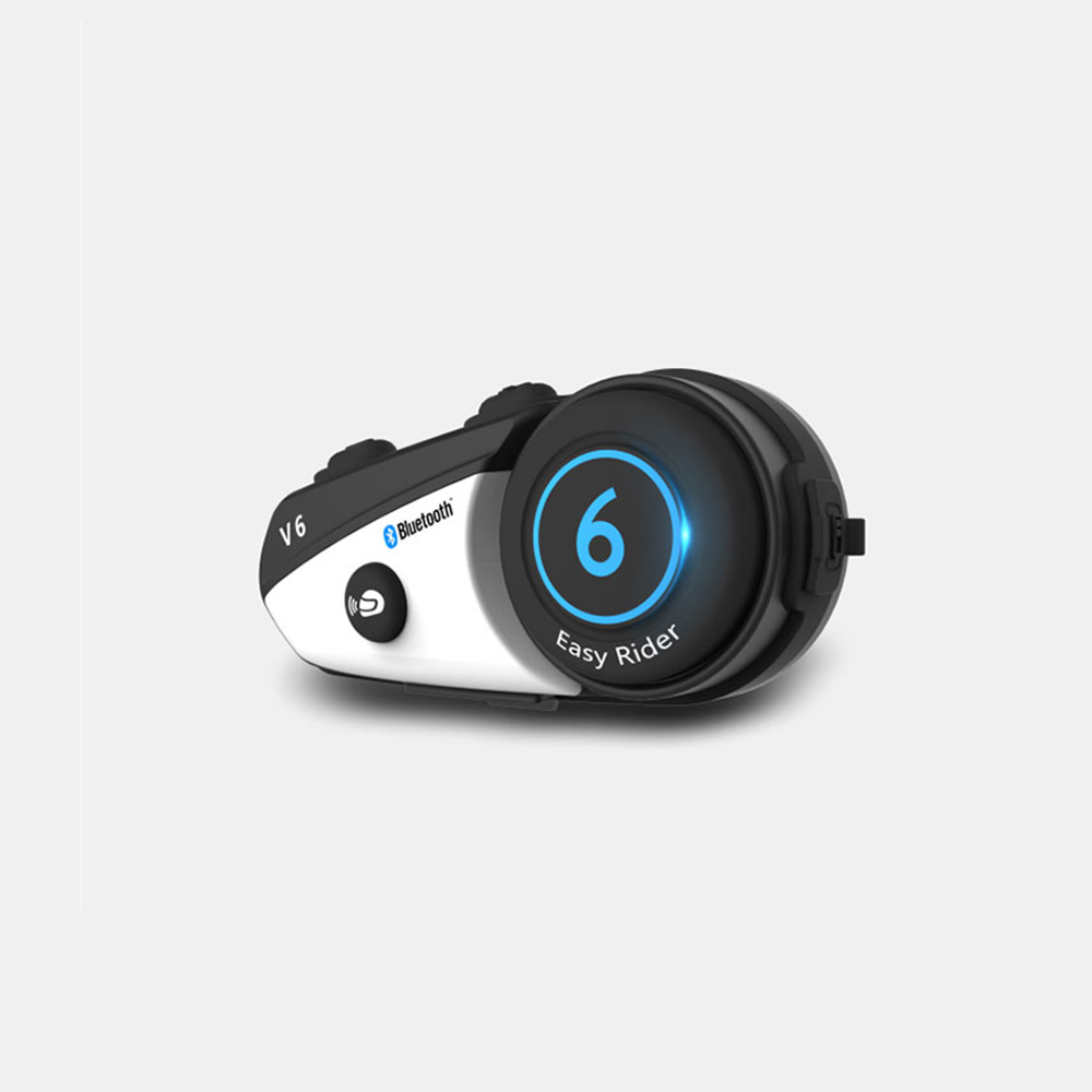 Casque de moto Bluetooth BT Interphone Interphone casque coureurs casque V6 casque casque de moto sans fil mains libres