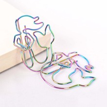 8Pcs/lot Colorful Rainbow Mermaid Paperclips Electroplating Metal Paper Clips Photo Clip Paper Clips Decorative Stationary tutu big size 200mm rainbow colorful metal paper clip large size paper clip the score clip h0155